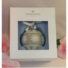 Wedgwood White & Tan Jasperware Neo Classical  Christmas Tree Ornament Taupe