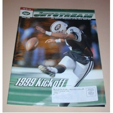 NFL New York JETS Jetstrean Magazine Summer 1999 Kickoff Football Magazine Team