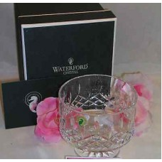 """Waterford Lead Crystal Lismore Simplicity 5"""" Footed Serving Vegetable Bowl"""
