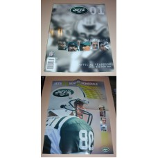 NFL New York JETS Official Yearbook 2001 & Poster Football Team Book Magazine