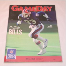 NFL New York JETS Gameday Magazine 1990 Jets vs Bills Football Magazine Book