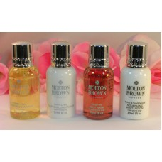 Molton Brown Bath & Body Shampoo Body Wash Conditioner & Lotion 4 Piece Set 1 oz Each