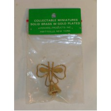 Doll House Miniatures Butterfly Solid Brass with Gold plating New in Packaging
