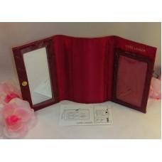 Estee Lauder Makeup Case / Mirror for Delux Eye Cheek Pallettes Color Red