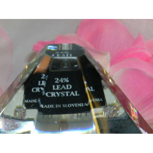 New  Rogaska Crystal iPhone iPod iPad Charging Station Desk Top USB Connector