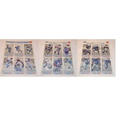 NFL McDonalds  Football Player Cards Detroit Lions 1993 18 Cards 6 Per Sheet