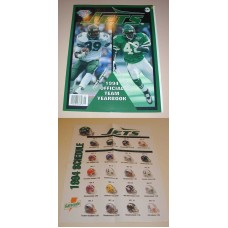 NFL New York JETS Official Yearbook 1994 & Poster Football Team Book Magazine
