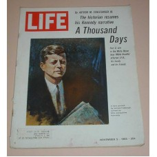 LIFE Magazine November 5, 1965  Kenenedy 1,000 Days Part 4 Life in White House