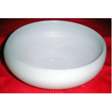 "Vintage Collectible E O Brody Co Milk Glass bowl 6 1/2"" wide 2 1/2"" tall"