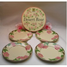 "Franciscan Desert Rose Set of 4  8"" Salad Desert Plates Great Hostess Gift"