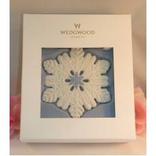 Wedgwood White &  Blue Jasperware Pierced Snowflake Ornament 2014