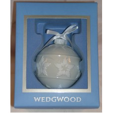 Wedgwood White Jasperware Star Relief Christmas Tree Ornament Great Gift