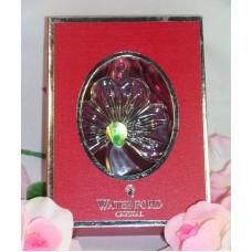 Waterford Lead Crystal 2013 Irish Shamrock Christmas St. Patrick's Ornament