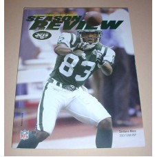 NFL New York JETS Official Season Review 2003 Football Magazine Team Book Moss