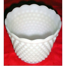 """Vintage Collectible Fire King Hobnail Milk Glass Vase 5"""" Inches Tall"""