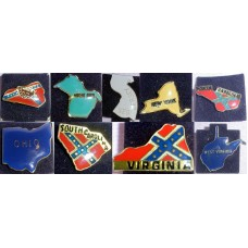 Collectible State Pins Lot #4 from 9 States KY,NY,NJ,SC,NC,VA,MI,OH,WV