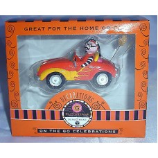 Dept 56 Lenox Glitterville Halloween Ornament Devil In Orange Car Christmas