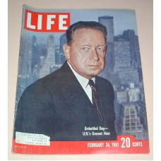 LIFE Magazine February 24 1961 Embattled Dag UN 'S Gravest hour