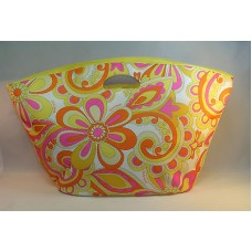 Clinique Extra Large Tote For Beach Travel Shopping Color Yellow Floral Bag