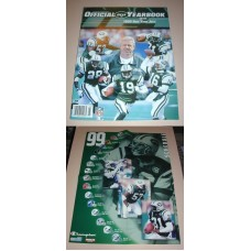 NFL New York JETS Official Yearbook 1999 & Poster Football Team Book Magazine
