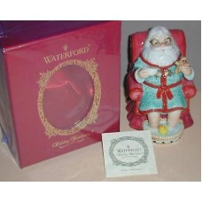 Waterford Christmas Holiday Heirlooms Tea Time Bell Santa Figurine