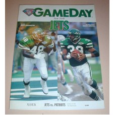 NFL New York JETS Gameday Magazine 1994 Jets vs Patriots Football Magazine Book