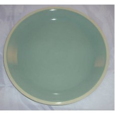Dansk Coconut Grove Azure Blue / Brown Round Platter Great Hostess Gift 14""