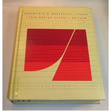 Vintage Essentials of Managerial Finance 6 th Edition J Fred Weston 1982