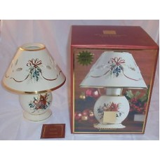 Lenox Votive Candle Lamp Christmas Holiday Winter Greetings Hostess Gift