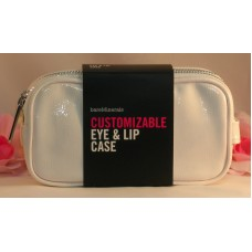 Bare Minerals Customizable Eye & Lip Makeup / Brush Case White Travel Home