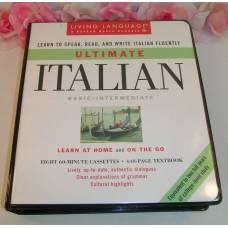 Ultimate Italian Learn Speak Read Write Basic Intermediate 8 Cassettes 1 Book