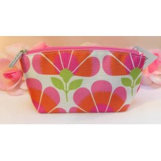 Clinique Makeup Cosmetic Bag Case Tote Purse Pink Orange Green Floral Clutch