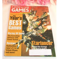 Computer Game Magazine April 2000 Starlancer Blazing 3D Speed Battlezone II FA18