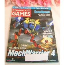 Computer Game Magazine November 2000 EverQuest MechWarrior 4 Games & Windows ME
