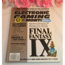 Electronic Gaming Monthly Magazine #132 July 2000 Final Fantasy IX EA Sports PS2