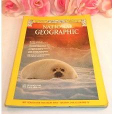 National Geographic Magazine January 1976 Volume 149 No.1 Moses Haiti Harp Seal