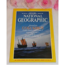 National Geographic Magazine January 1992 Volume181 No.1 Columbus USS Macon Seal