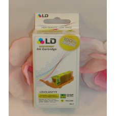 LD Printer Ink Yellow LD-CL1221y For Canon Pixma Printers / Chip Sealed iP3600 +