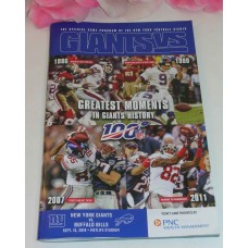 NFL NY Giants Official Game Program 100 Greatest Moments in Giants History