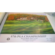 2005 Baltusrol PGA Championship Poster Baltusrol Golf Club August 11-14 Sz 24x30