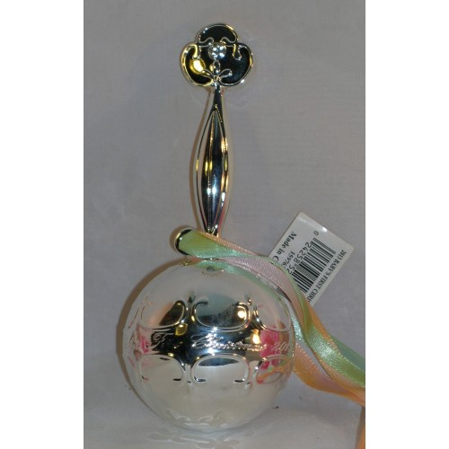 ... Waterford 2013 Silver Baby Rattle Baby's First 1st Christmas Tree Ornament ...